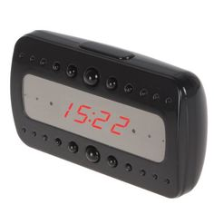 Full HD 1080P Alarm Clock Motion Detection and Remote Control IR Night Vision Video Camera