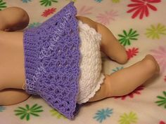 Here's a new idea for baby! Lacy Skirt Diaper Cover pattern by Marcia Peterson