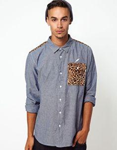 Publish Shirt With Leopard Print - again, men's stuff but l'd rock that!