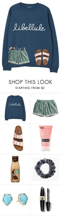 """my anxiety is attacking me rn smh "" by avazumpano ❤ liked on Polyvore featuring MANGO, H&M, Birkenstock, Boohoo, Kendra Scott, Max Factor and Essie"