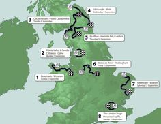 Tour of Britain, 2015, route, pic: Sweetspot