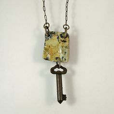 Upcycled Tin Ceiling Necklace by XOHandworks $25