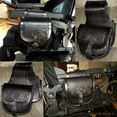 Wheelchair Saddlebags by Hawk's Cherokee Leatherworks