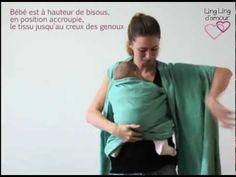 écharpe de portage nouage facile : l'enveloppé-croisé de nouveau-né à bambin