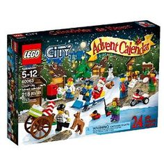Found my new Advent Calendar! Count down to Christmas with the LEGO® City Advent Calendar, a great gift featuring 7 minifigures, a snowman, turkey, sled and more. Lego Advent Calendar, Advent Calenders, Lego Christmas, Christmas Gifts, Christmas 2014, Christmas Ideas, Christmas Hamper, Holiday 2014, Toddler Christmas