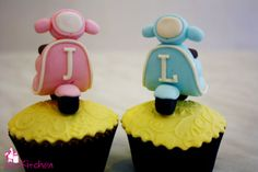 Vespa Cupcakes, I want them...