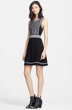 rag & bone 'Erin' Knit Fit & Flare Dress | Nordstrom
