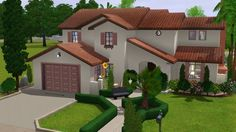 Spanish Suburban house by stonee206 - Sims 3 Downloads CC Caboodle