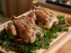 Get Bay Roasted Chicken Recipe from Food Network