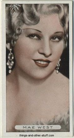 Mae West 1934 Ardath Famous Film Stars Tobacco Card #13 on Immortal Ephemera