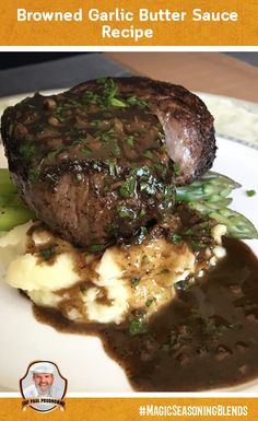 Try our Browned Garlic Butter Sauce tonight! #recipe #garlic #butter