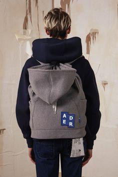 [unisex] Hoodie backpackGreysold out Fashion Bags, Fashion Accessories, Fashion Ideas, Cyberpunk, O Bag, Sport Inspiration, Fashion Details, Fashion Design, Ader