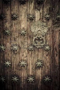 Close-up de antiguas puertas de Cartagena, Colombia