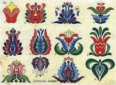 Folk Embroidery Patterns A teljes méretű képhez kattints ide Hungarian Embroidery, Folk Embroidery, Learn Embroidery, Hand Embroidery Designs, Embroidery Patterns, Flower Embroidery, Chain Stitch Embroidery, Embroidery Stitches, Machine Embroidery
