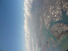 Honolulu International Airport and Pearl Harbor area, Oahu, Hawaii, USA