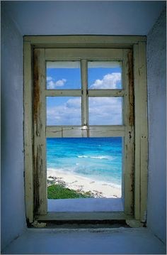 Celarain Leuchtturm, Cozumel, Mexiko Fotodruck - Places to Visit - Window View, Open Window, Ventana Windows, Looking Out The Window, Through The Window, Windows And Doors, Fake Windows, Rustic Windows, Small Windows