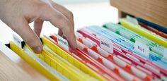 Como organizar documentos, contas..de um jeito prático e fácil de encontrar