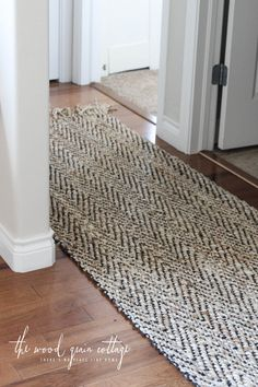 """New Hallway Rug by The Wood Grain Cottage."" Yes, this is more like what I had in mind, it's got black through it, so any little bits of black doggy fur won't be noticed as much!!"
