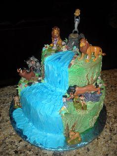 Lion king cake Kennis 2nd Bday Pinterest Lion king cakes