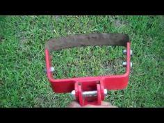 Stirrup hoe demonstration for a garden - YouTube