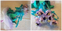 purple, narcissus, daffodil, handmade, flower, boquet, floral, decoration, crafts, event, bridal