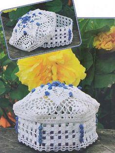 1000+ images about Lace Bowls Boxes & Baskets on Pinterest ...
