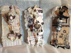 Altered wine corks on tags