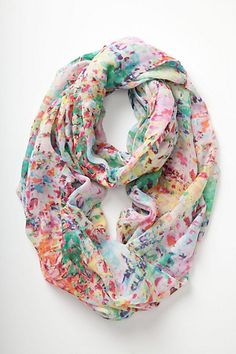 Blurred Watercolor Infinity Scarf by Anthropologie