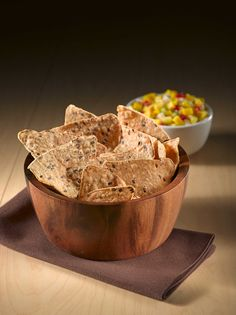 No matter what you dip 'em in, these Multi Grain and Omega tortilla chips are a perfect, healthful complement with 35g of whole grains per serving and 450mg of Omega-3s! See more on our website.