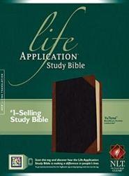 NLT Life Application Study Bible, Imitation Leather, Black/Brown  -