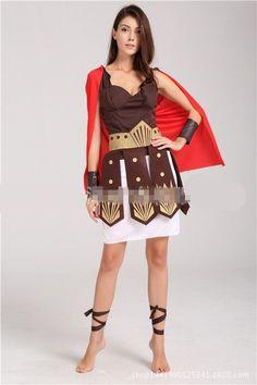 Ancient Roman Warrior Gladiator Costumes Masquerade Party Women Men Knight Julius Caesar Halloween Adult Cosplay Couple Cotume