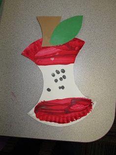 Mrs. Karen's Preschool Ideas: Paper Plate Apple