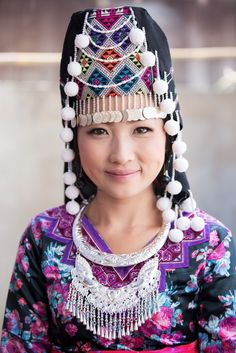 Fascinating diversity of handmade traditional dresses | Photograph by Cyril Eberle #HmongNewYear