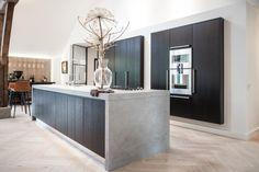 Interior Living Room Design Trends for 2019 - Interior Design Contemporary Kitchen Design, Interior Design Living Room, Living Room Designs, Kitchen Living, New Kitchen, Kitchen Decor, Black Kitchens, Home Kitchens, Cuisines Design
