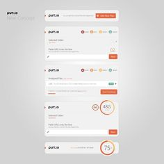 Put.io White Concept by Sencer Bugrahan. If you like UX, design, or design thinking, check out theuxblog.com
