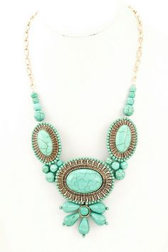 Statement necklace.  Great color for spring!