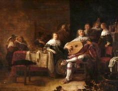 16+Anthonie+Palamedesz.+(Dutch+artist,+1601–1673)+A+Musical+Party+1645-50+detail.jpg (702×545)