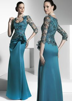 Free shipping Ddazzing Long sleeve Lace Stretch silk Floor length Prom Dresses Evening Dresses-in Bridesmaid Dresses from Apparel & Accessories on Aliexpress.com