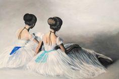 Ballerinas painting by Agata Mikulska-Sienkiewiczacryl on canvas, 100x150 cm