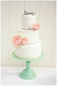 Cake Toppers Part 2: Monograms And Words « Wedding Ideas, Top Wedding Blog's, Wedding Trends 2014 – David Tutera's It's a Bride's Life