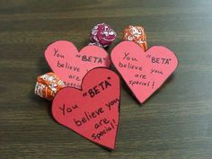 Valentines to school staff from Beta Club (just image)