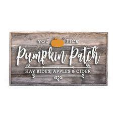 Pumpkin Patch Fall sign Pumpkin Farm, Diy Pumpkin, Pumpkin Signs, Fall Wood Signs, Rustic Signs, Fall Signs, Halloween Signs, Halloween Table, Halloween Halloween