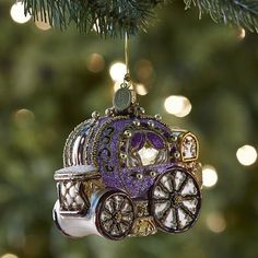 European Glass Carriage Ornament from Purple Christmas Ornaments, Christmas Colors, Christmas Snowman, White Christmas, Christmas Decorations, Holiday Decor, Welcome To Christmas, Christmas Time Is Here, All Things Christmas