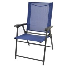 Sling Folding Lawn Chair Blue