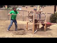 DIY Trommel Rotary Screen Separator Remove Rocks From Soil - YouTube