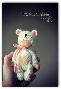 Titi Polar Bear, by LesPouPZ Handmade Dolls