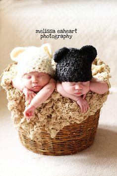 Twin Baby Bear Hats