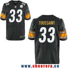 9a9714007 Men s Pittsburgh Steelers  33 Fitzgerald Toussaint Black Team Color  Stitched NFL Nike Elite Jersey Pittsburgh