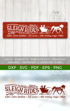 A lovely weather for a sleigh ride together, and cozy living room to decorate with rustic lovely sign. By Petra Studio Art. Christmas Sewing, Christmas Svg, Christmas Printables, Rustic Christmas, Christmas Projects, Winter Christmas, Christmas Stencils, Christmas Stuff, Christmas Ideas