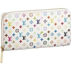MONOGRAM MULTICOLORE ZIPPY WALLET M60049  -8 credit card slots -1 open compartment for banknotes -1 zipped compartment for coins -3 large compartments for papers and passport -2 patch pockets -Monogram Multicolore is a creation of Takashi Murakami for Louis Vuitton